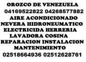 Reparacion barquisimeto cabudare 04169522822 aire acondicionado nevera