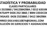 Estadística - probabilidad - clases - resolución de ejercicios.