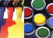 Pinturas de caucho, esmalte, epoxico, brillo de seda, trafico,etc