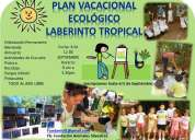 Plan vacacional ecológico laberinto tropical