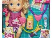 Muñeca baby alive bebe tiene fiebre, hasbro