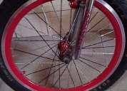 Vendo rines 20 brasileros para bicicletas!! color rojo negro