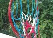 aro con malla y balon de basket tamanaco