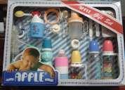 Kit de teteros para bebe apple nuevo oferta