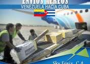Envio de carga en general desde venezuela a cuba
